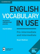 English Vocabulary in Use Pre-intermediate and Intermediate with answers and Enhanced ebook, 4. edice