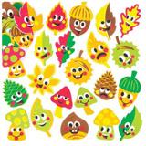 Pìnové samolepky podzimní kamarádi (120 kusù) - AV360