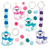 Sada k výrobì pøívìškù na klíèe a tašky polární medvìd (4 kusy) - AV646