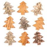 Vánoèní stromky z kùry (30 kusù) - AV886