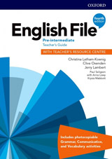 English File Fourth Edition Pre-Intermediate Teacher´s Book with Teacher´s Resource Center