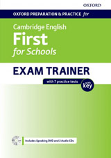 Oxford Preparation & Practice for Cambridge English: First for Schools Exam Trainer Students Book Pack with Answer Key