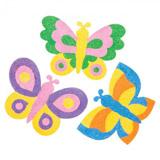 Magnetky vyrobené pískováním - motýli (6ks)