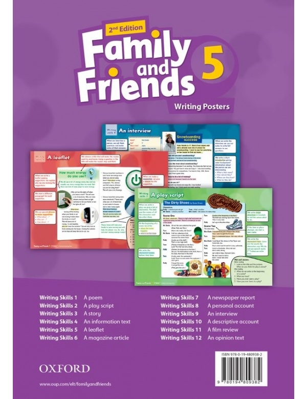 Family and Friends 2nd Edition 5 Posters
