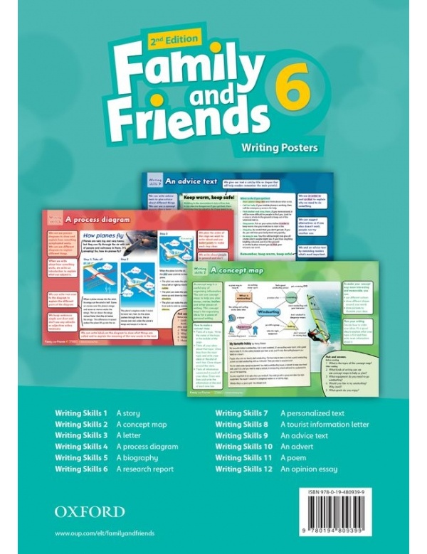 Family and Friends 2nd Edition 6 Posters