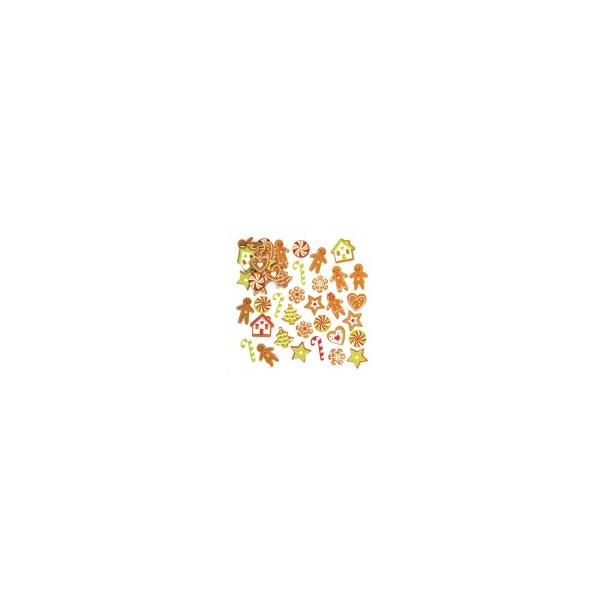 Pěnové samolepky perníčky (120 ks)