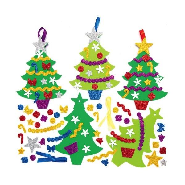 Pěnové vánoční stromky k dokončení (6 ks)