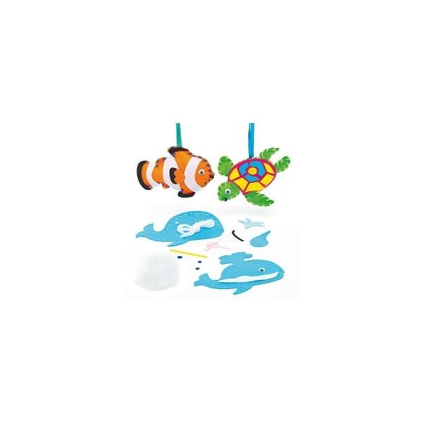 Dekorace podmořský svět - šitíčko (3ks)