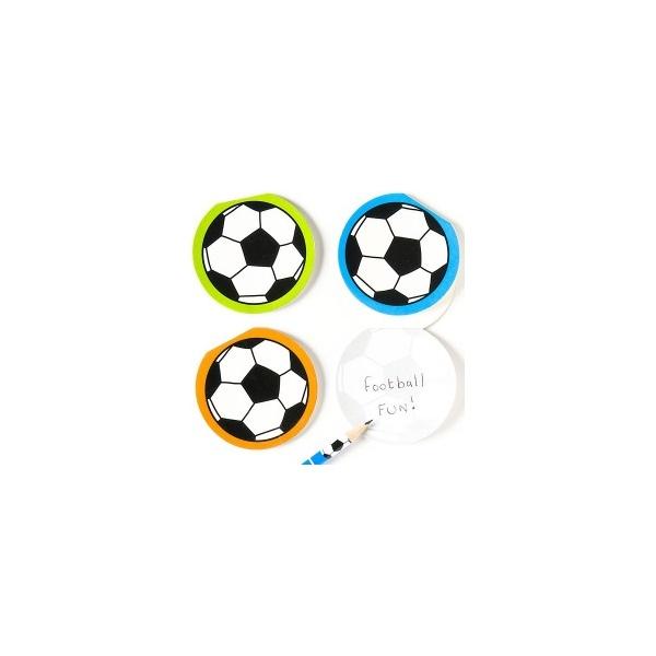 Memo bloček fotbalový míč (6ks)